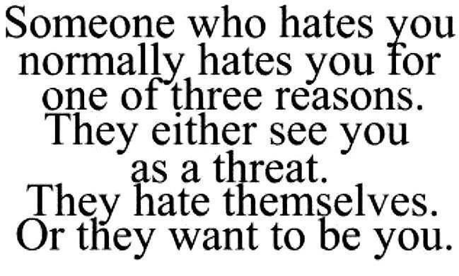 Lose the hate.
