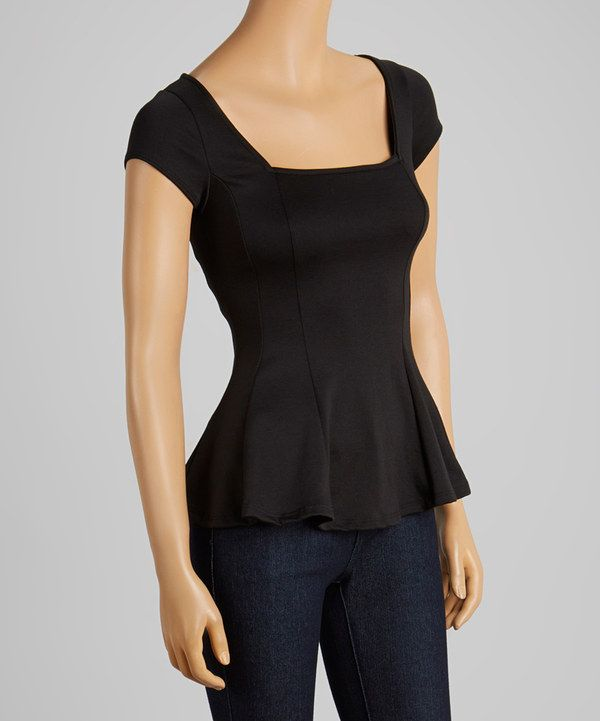 This Black Pleated Top by Clothing Showroom is perfect! #zulilyfinds