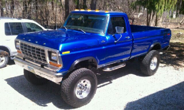 Our 1979 Ford F 250 4x4 Redone In Blue Flame Metallic Rolling Out On 37s