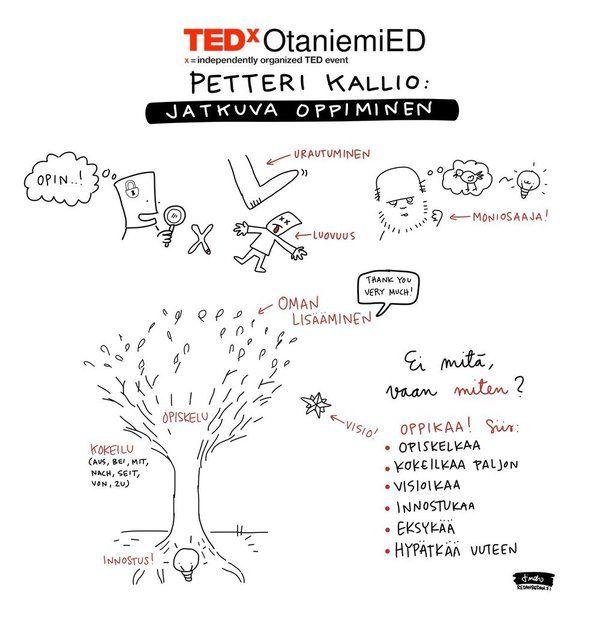 """Petteri Kallio on Twitter: """"Ajatuksiani jatkuvasta oppimisesta ja Darwinista. Matka vaan jatkuu. @TEDxOtaniemiED #TEDTalks https://t.co/wgBKSUouxF"""""""
