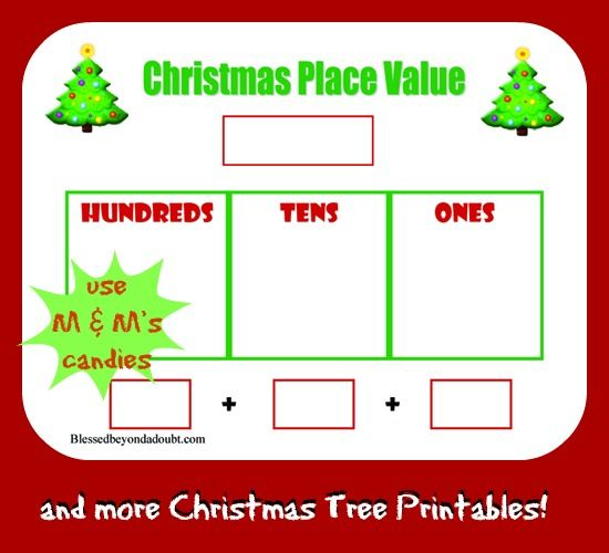 Free Christmas Tree Place Value Worksheet and More | Homeschool ...