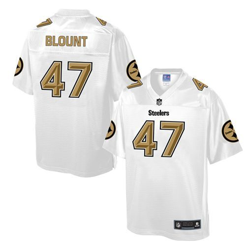 mens nike pittsburgh steelers 47 mel blount game white pro line fashion nfl jersey