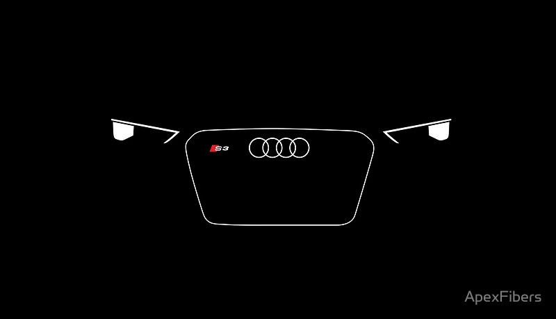 Small German Sedan Led Headlights And Grill Poster By Apexfibers Audi Audi Cars Audi S3 Sedan