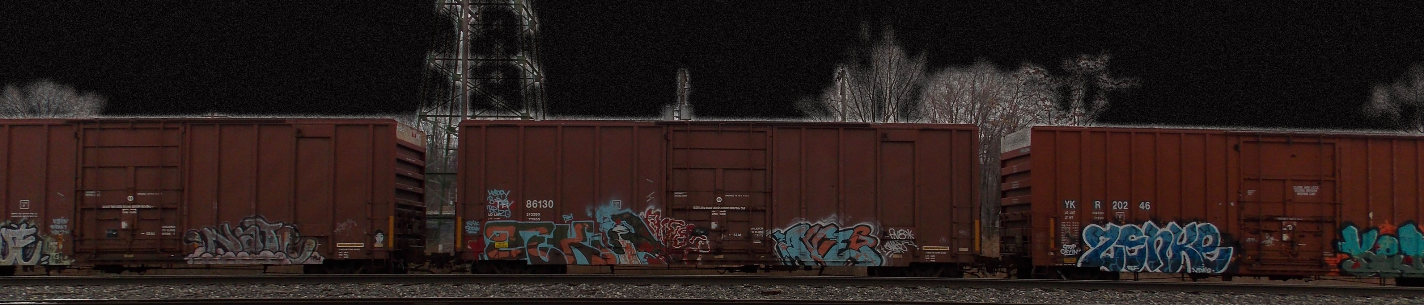 Train cars in Bettendorf, Iowa