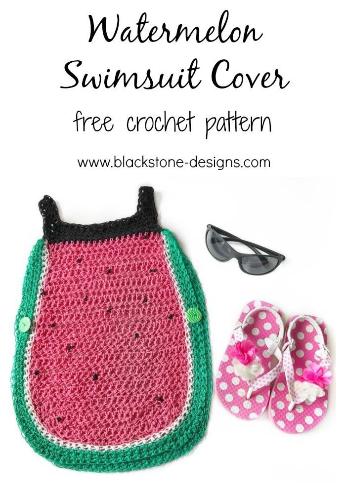 Watermelon Swimsuit Cover free crochet pattern from Blackstone ...