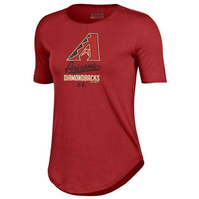 Arizona Diamondbacks Under Armour Women's Crew Performance T-Shirt - Red