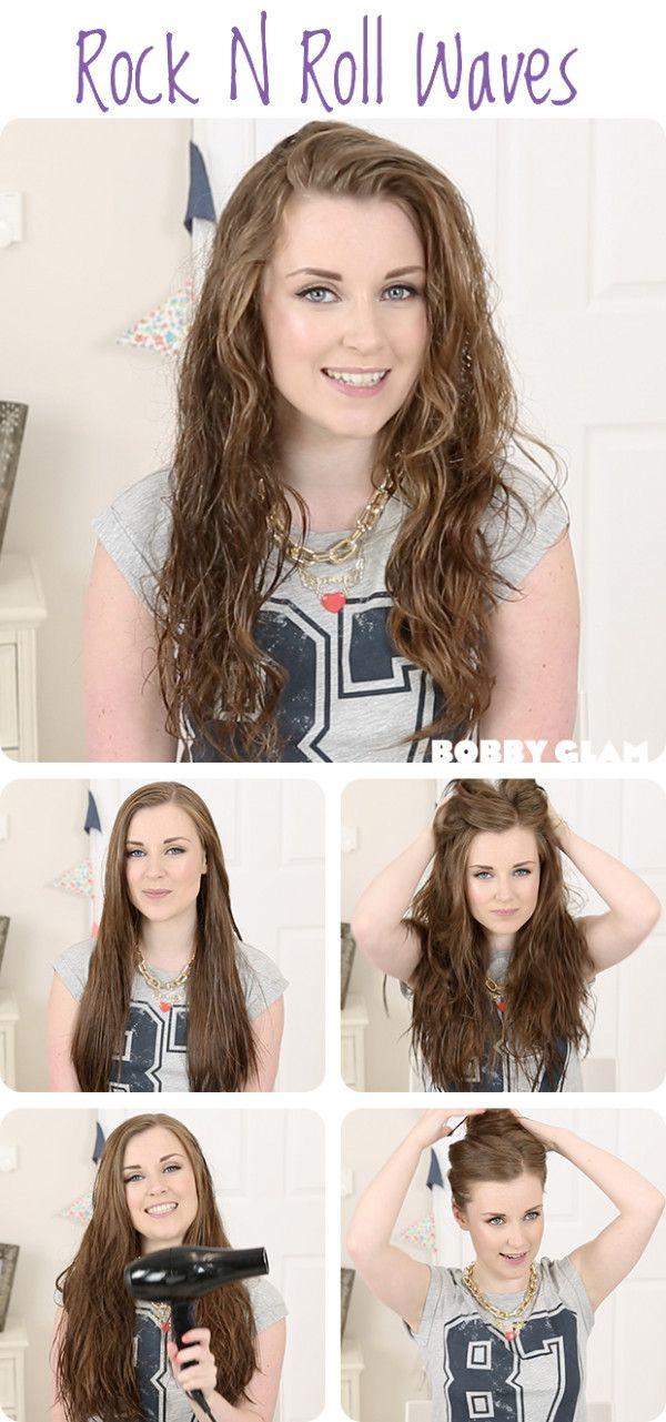 Rock N Roll Girl Hairstyles : Rock n roll waves hair tutorial beauty: beach waves hair