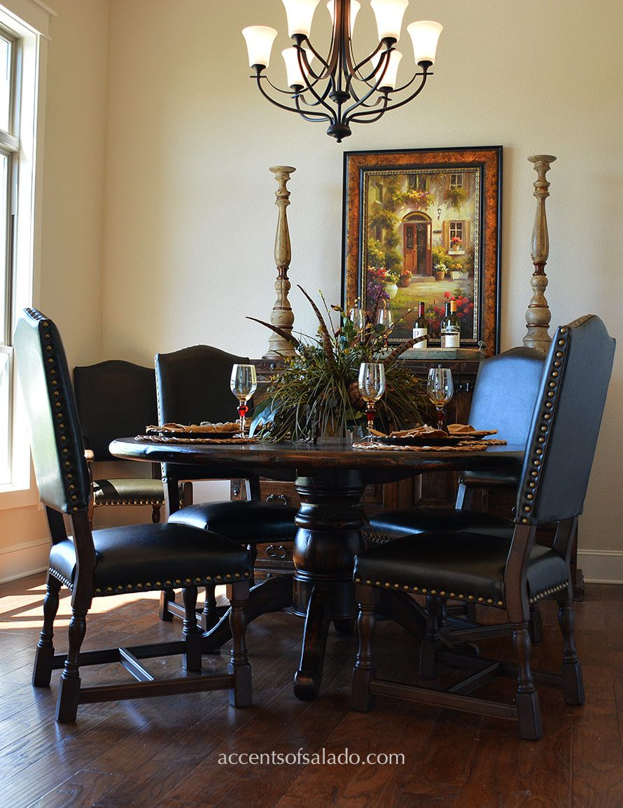 Dining Room Table Tuscan Decor - Dining chairs and tables at accents of salado old world dining room furniture for today s
