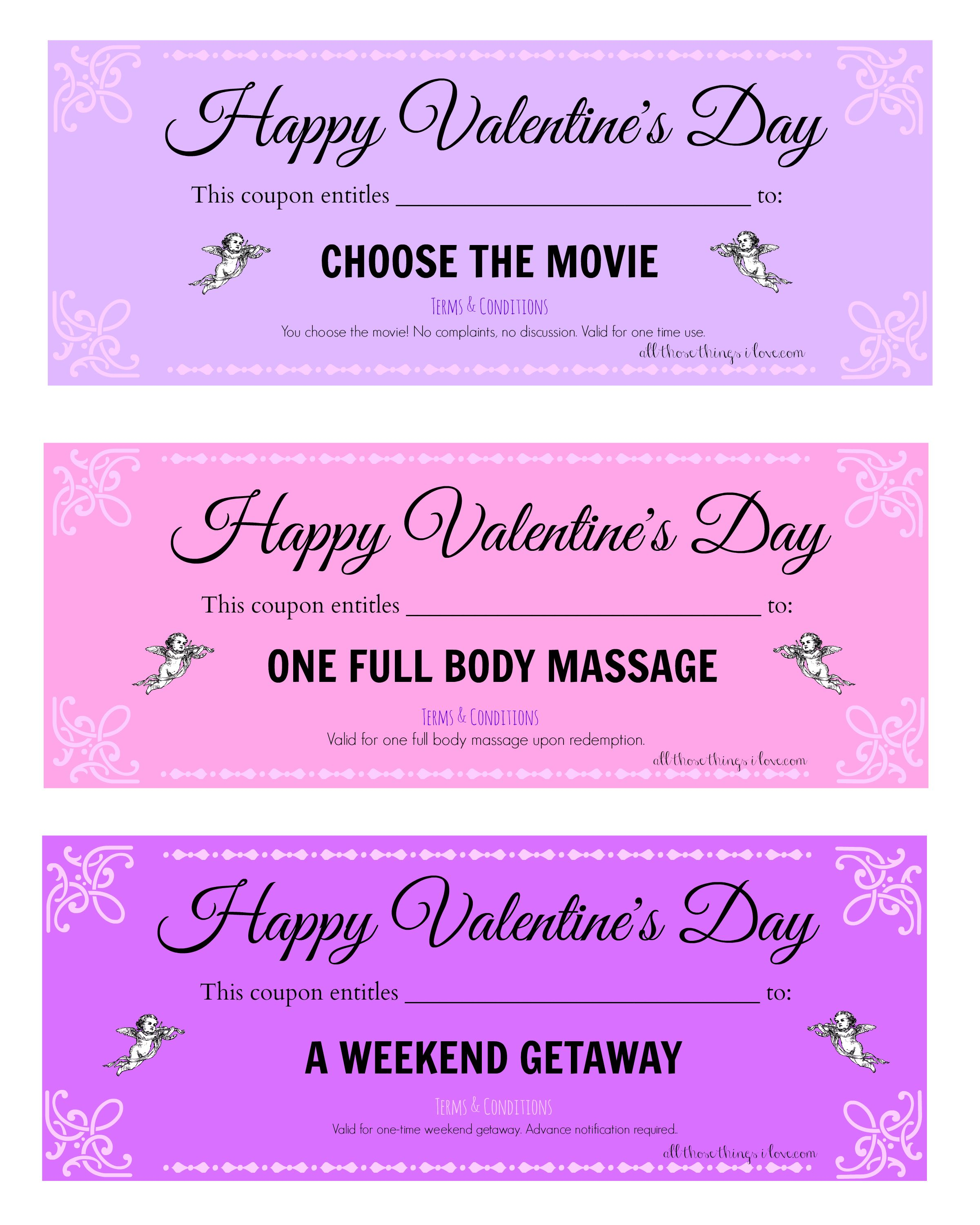 Free Valentine S Day Printable Love Coupons Valentines Coupon Book Love Coupons Free Valentine
