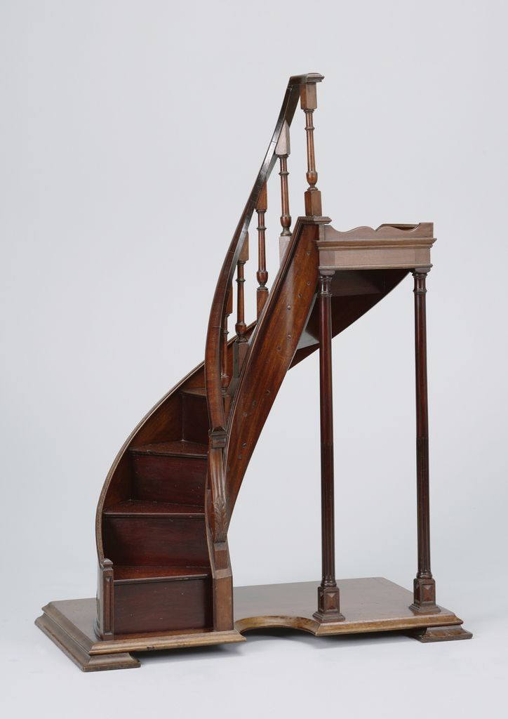 Best Slightly Semi Circular Staircase Model With Banister С 400 x 300