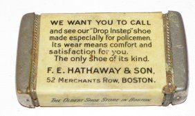 ADVERTISING MATCH SAFE FOR HATHAWAY SHOES