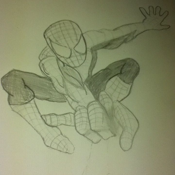 My drawing of Spinderman. :3