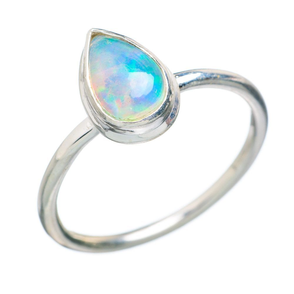 Natural Ethiopian Opal 925 Sterling Silver Ring Size 8.25 RING726957