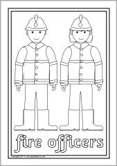 Ned. versie!!! People who help us colouring sheets (SB5071