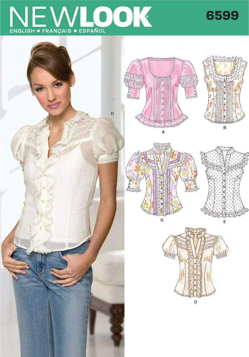 New Look 6599 MISSES BLOUSES | sewing | Pinterest | Sewing patterns ...