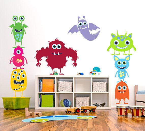 Nursery children wall decal Monsters Inc kids wall art sticker - O6 ...