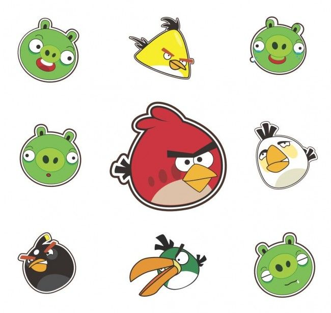 Dibujo De Angry Birds Coloreados Para Imprimir Y Colorear Angry Birds Fiesta De Pajaro Pegatinas Imprimibles