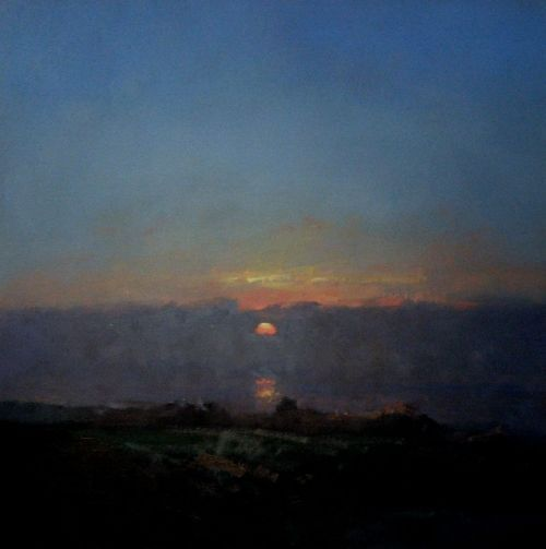 Colin Orchard RBA  Sunset Man's Head St Ives