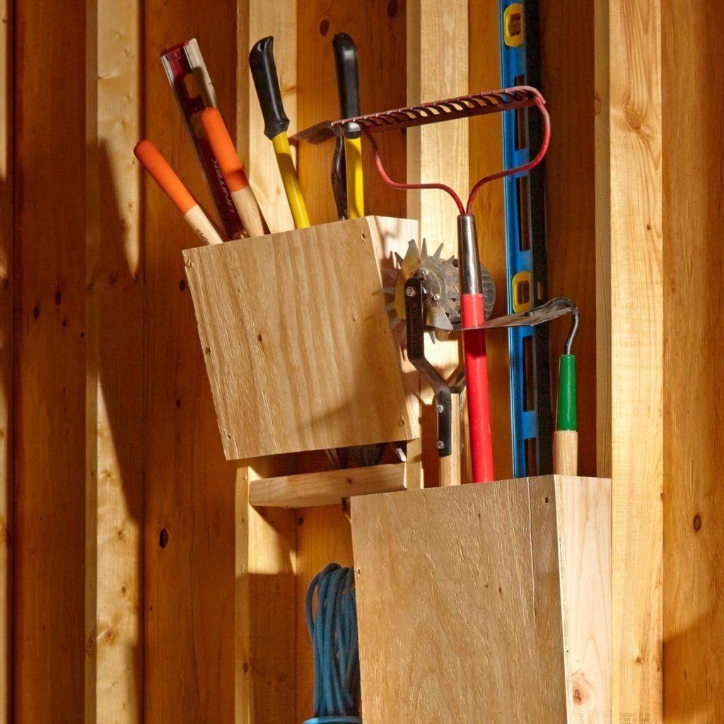 diy tool shed organizer
