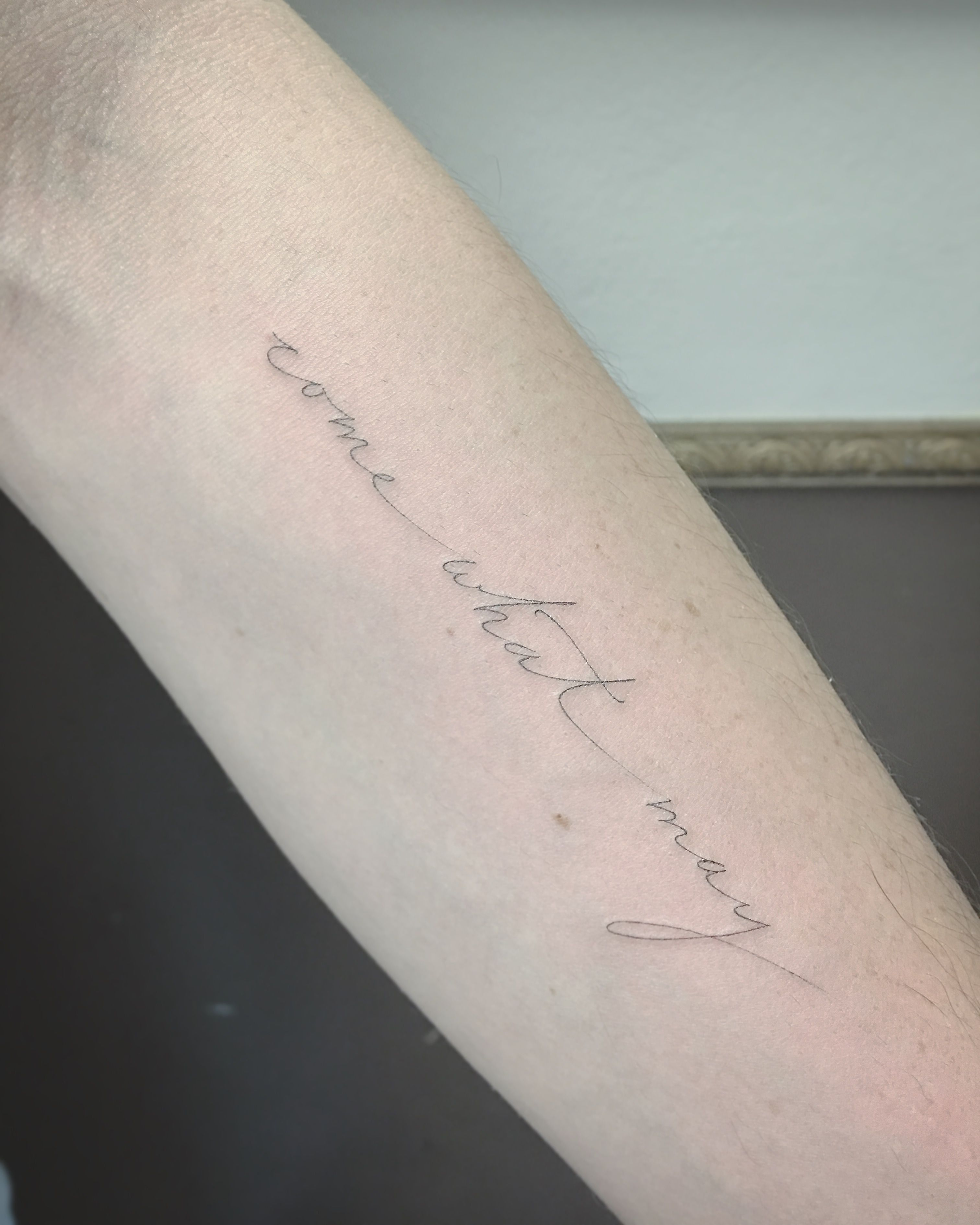 Tattoo Needle Quotes: By East Iz #singleneedle #fineline #script #tattoo #east