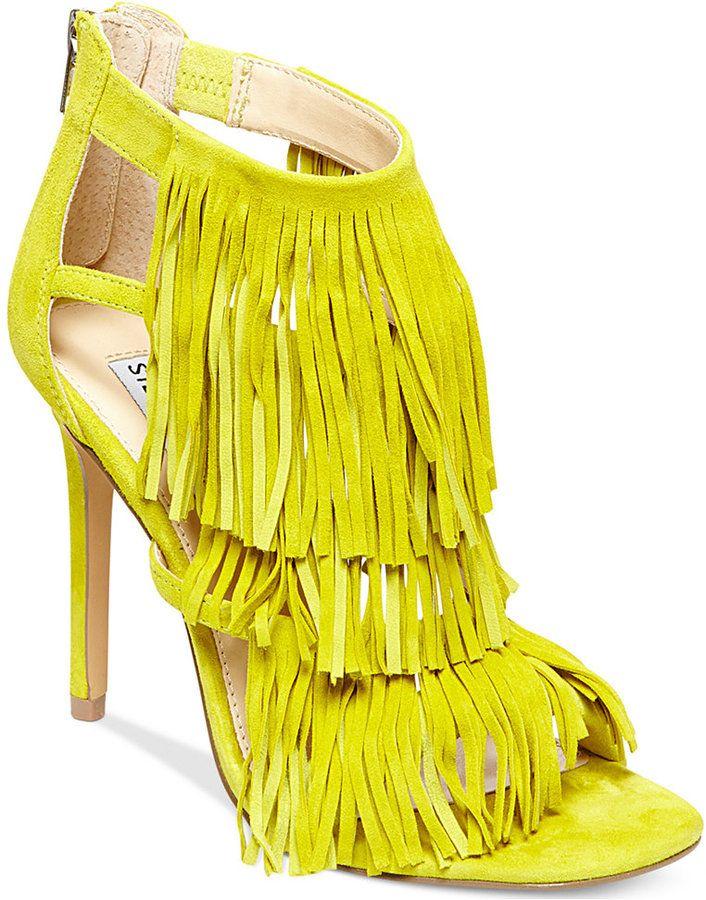 *Steve Madden Women's Fringly Dress #Sandals * Playful fringe details give  the Fringly dress