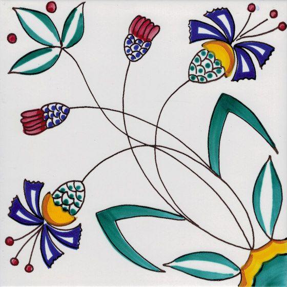 Lr po fiore stilizzato di la riggiola piastrelle mattonelle per pavimenti mattonelle decori - La riggiola piastrelle ...