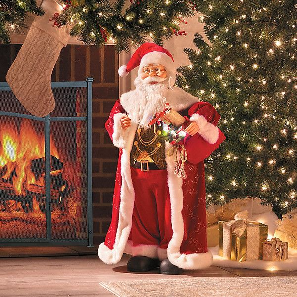 Improvements 3\u0027 Animated Santa with Music Christmas Decor (165 CAD