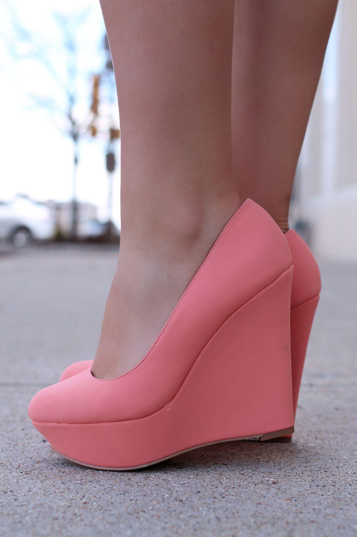2b28b230839 Pink Closed Toe Wedges