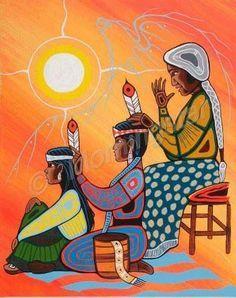 Artist Name In The Copyright Watermark Indigenous Art Native American Paintings Native American Artwork