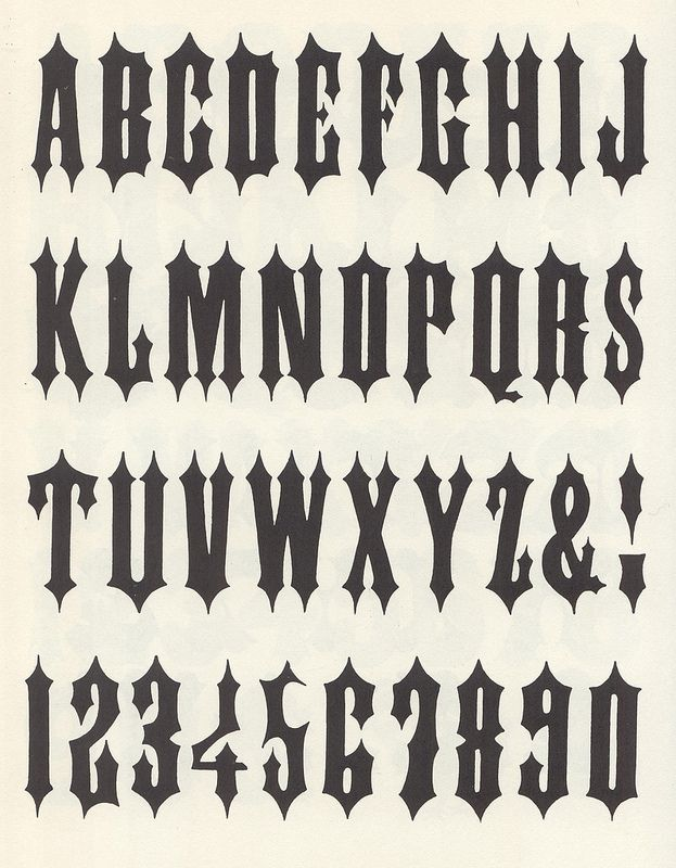 Alphawood P88 Gothic Tuscan Pointed Lettering Alphabet Fonts Graffiti Lettering Fonts Graffiti Lettering