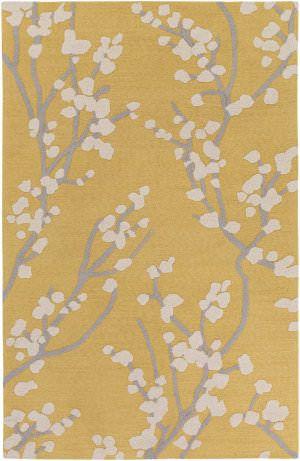 Artistic Weavers Marigold Caroline Yellow   Gray   Ivory Area Rug