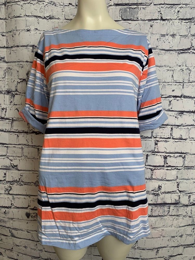08bccce2b09 Basic Editions Plus Size XXL Top Multi Color Striped Short Sleeve Casual  Shirt  BasicEditions