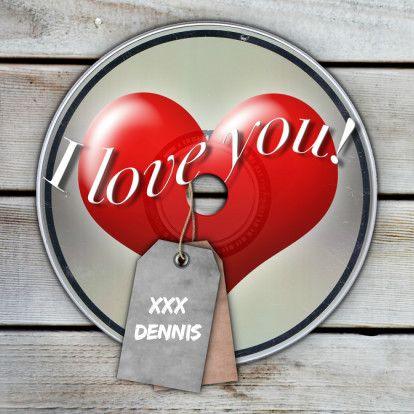 CD voor jou CD van mij....Romantische kaart met een grappig accentje... De kaart is volledig naar wens op te maken. Tip;Plaats een foto op het label! Ook voor hem ;-)
