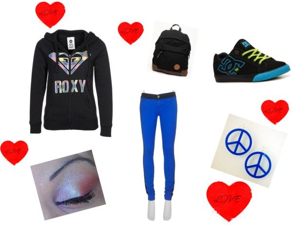 """roxy and blue"" by flop-1 on Polyvore"