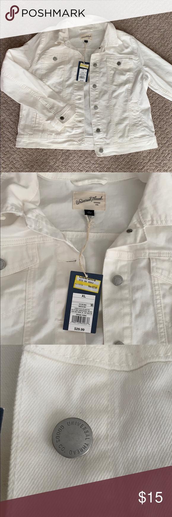 White Denim Jacket Xl White Denim Jacket White Denim Jackets For Women [ 1740 x 580 Pixel ]