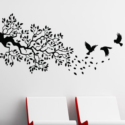 style and apply birds and branch wall decal | products | pinterest