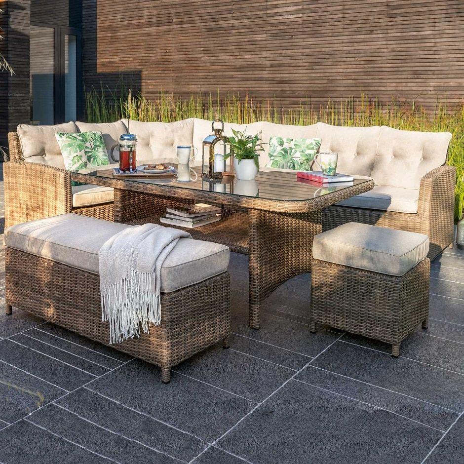 Set Da Pranzo In Rattan.Moreton Casual Dining Rattan Garden Furniture Set Rattan Garden