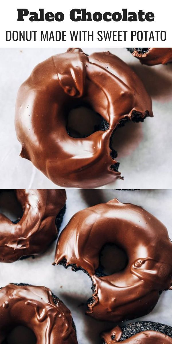 Healthy Chocolate Donuts Made With Sweet Potato - Paleo Gluten Free Eats, #Chocolate #Donuts #Eats #free #gluten #Healthy #Paleo #Potato #Sweet