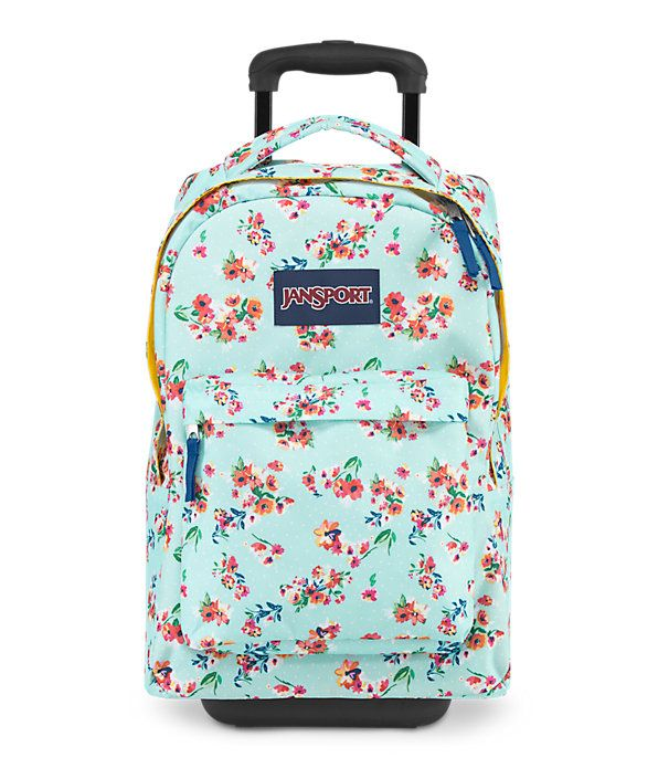 Ditsy Floral Superbreak Roller Bookbag Girls Rolling Backpack