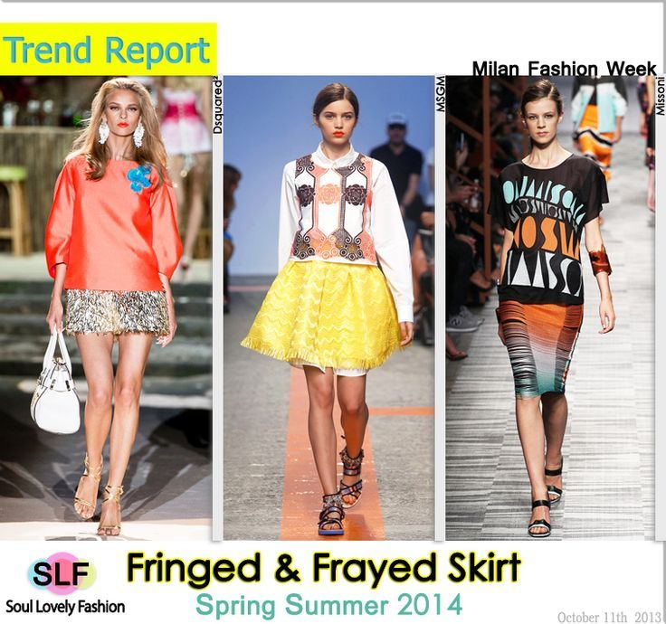 Fringed & Frayed SkirtFashionTrends for  #SpringSummer2014 #spring2014 #fashion #ss2013 #trends #fringe