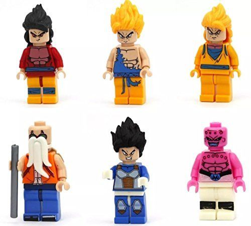 Nw Lot Of 6 Sets Dragonball Z Minifigures Building Toys Son Goku Blocks Gift Gt Without Original Box Http Www Amazon Co Building Toys Mini Figures Son Goku