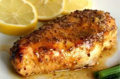 Pollo al horno con miel, mostaza y un toque de limón