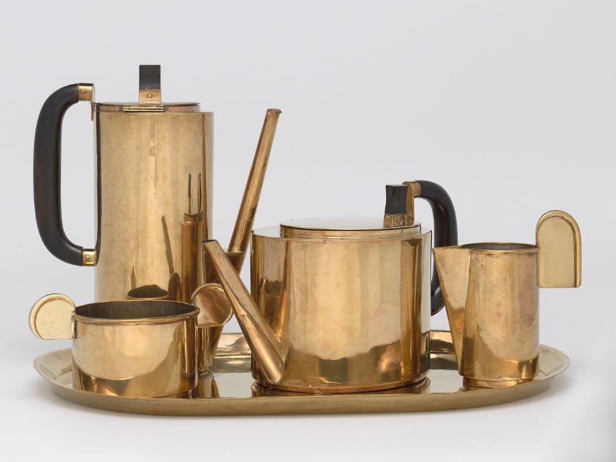 Küchenlounge wagenfeld ~ Wilhelm wagenfeld coffee and tea service: 5 piece set harvard