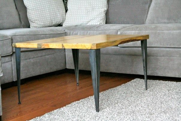 Wonderful Diy Coffee Table With Tapered Angle Iron Legs