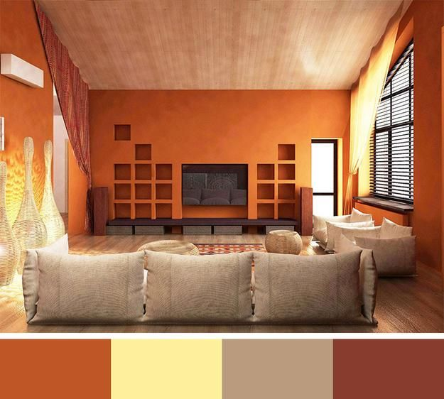12 modern interior colors decorating color trends room for Living room ideas orange