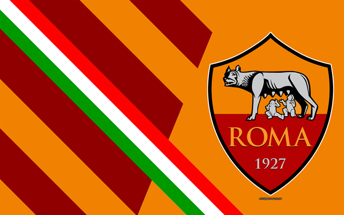 Download Wallpapers As Roma 4k Italian Football Club Logo Abstraction Orange Background Emblem Serie A Italy Rome Flag Of Italy Football Besthqwallpa As Roma Custom Soccer Italy Flag