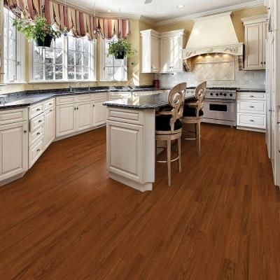 Living Room Ideas VINYL FLOORING 197 Sq Ft Home Depot TrafficMaster Allure Plus American Cherry 5 In