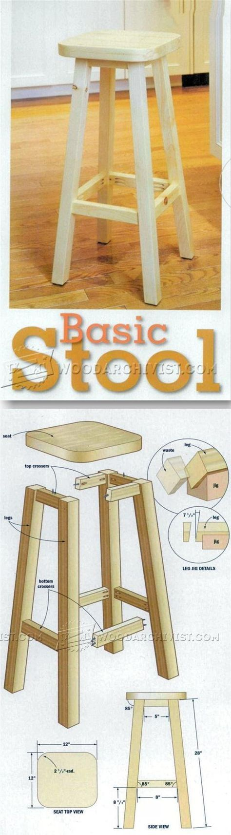 Kitchen Stool Plans   Furniture Plans And Projects   WoodArchivist.com