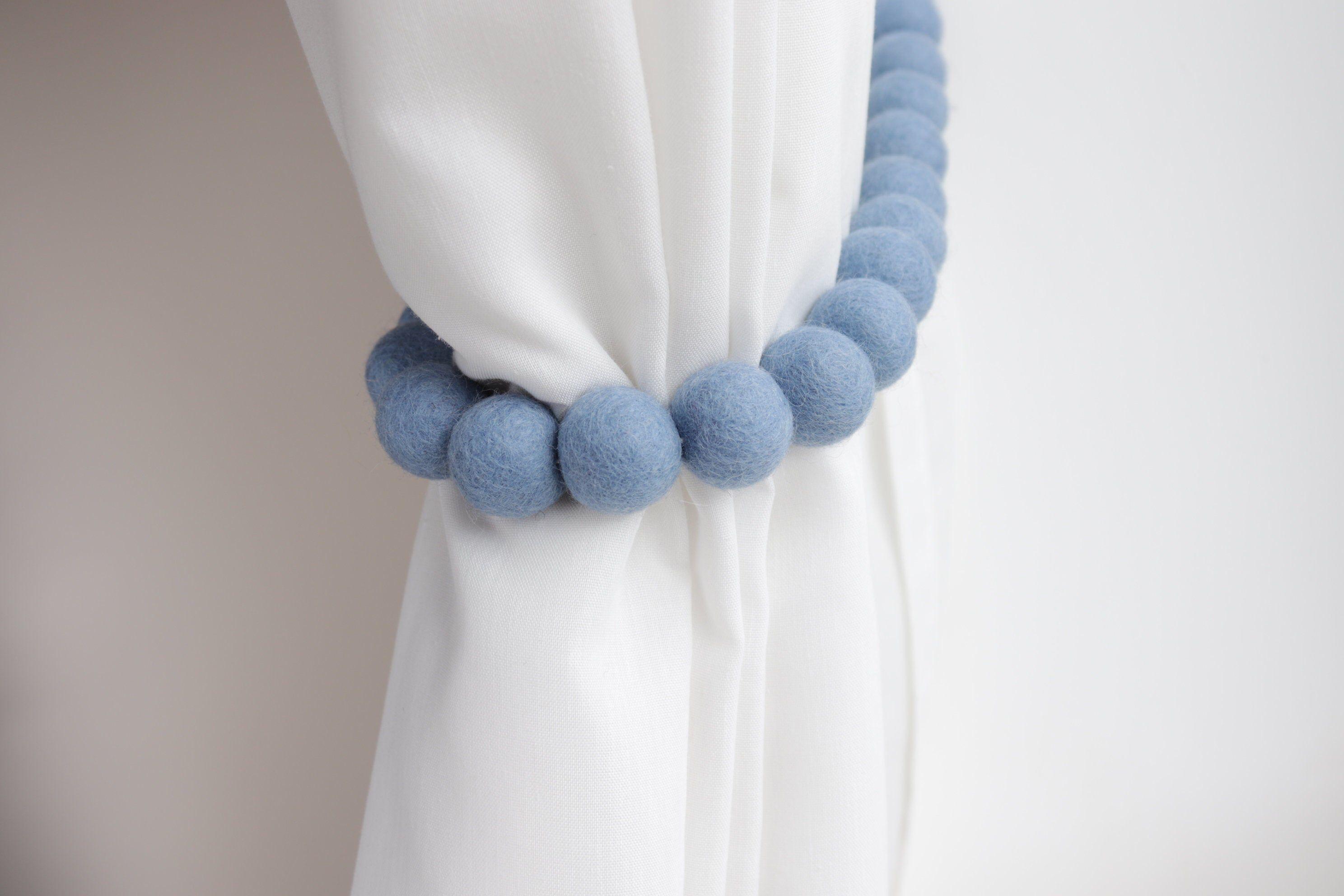 Baby Blue Curtain Tie Backs Blue Nursery Decor Nursery Curtain