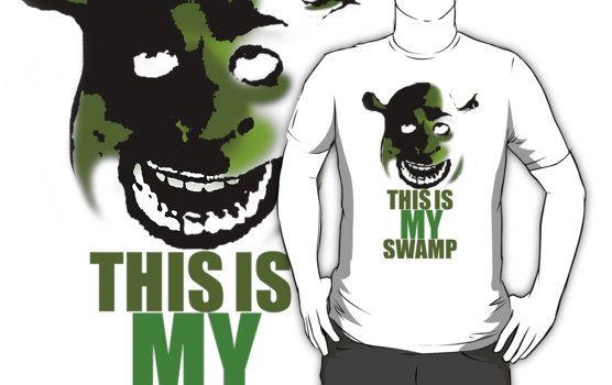 92a4250a6 This is my swamp - Shrek is love. Shrek is life. | Slim Fit T-Shirt ...